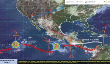 Lluvias muy fuertes en el occidente, sur y sureste de México