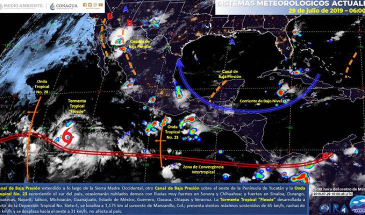 Lluvias muy fuertes en zonas del norte, occidente, centro y sur de México