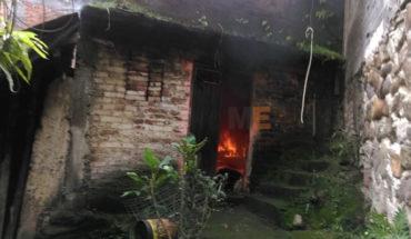 Menor de edad resulta con quemaduras al intentar apagar incendio en casa de su abuela, en Peribán, Michoacán
