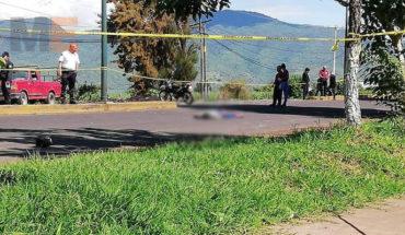 Motociclista muere al derrapar su unidad en Los Reyes, Michoacán