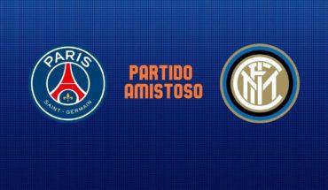PSG vs Inter EN VIVO ONLINE: Partido amistoso este sábado