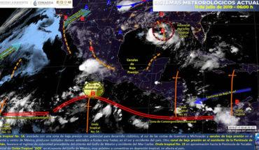 Potencial de lluvias intensas en el centro y sur del litoral del Pacífico