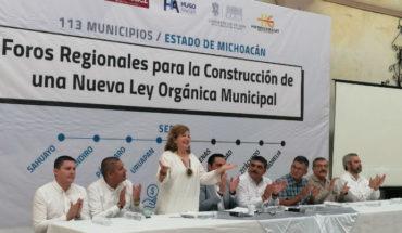 Realizan diputados michoacanos, 5to Foro para la Construcción de una Nueva Ley Orgánica Municipal