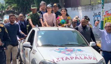 450 elements of the National Guard arrive in Iztapalapa