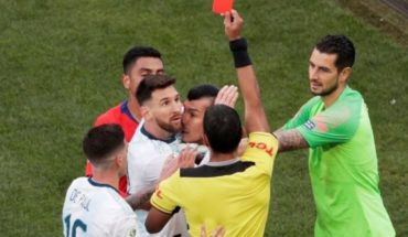 Conmebol upheld sanction on Lionel Messi for expulsion to Chile