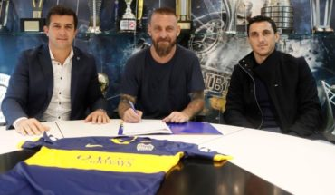 Daniele De Rossi signed with Boca until 2021 and has official debut date