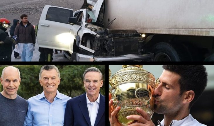 "Fatal accident on Route 40, ""simultaneous"" campaign of Change, Djokovic Wimbledon champion and much more..."