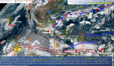 Heavy rains in central, northwest, south and western Mexico