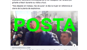 It's true that a woman was arrested in Blue for insulting Macri