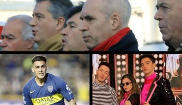 """Larreta against Anibal Fernández, Macri and the """"defenders of change"""", Pavón moves away from Boca, the discharge of Sofi Morandi and more..."""
