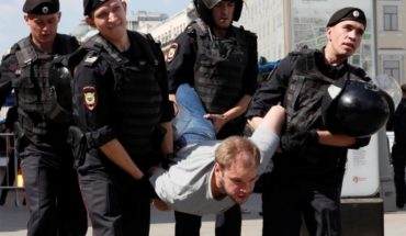 More than 1,000 detainees at a rally in Moscow following one of the authorities' most violent repressions in recent years