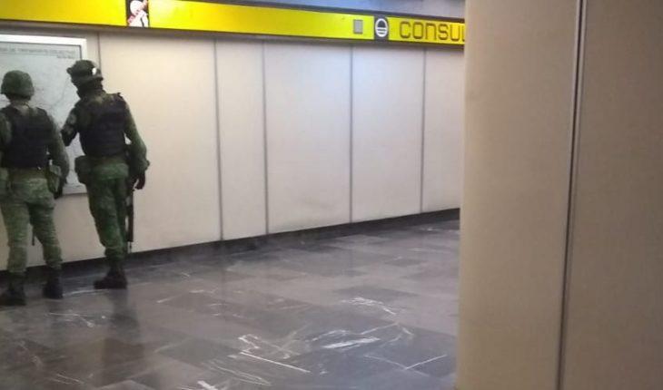 National Guard reviews user backpacks and monitors Metro corridors