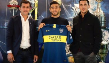 Salvio already sports the colors of Boca and was presented with sketch included