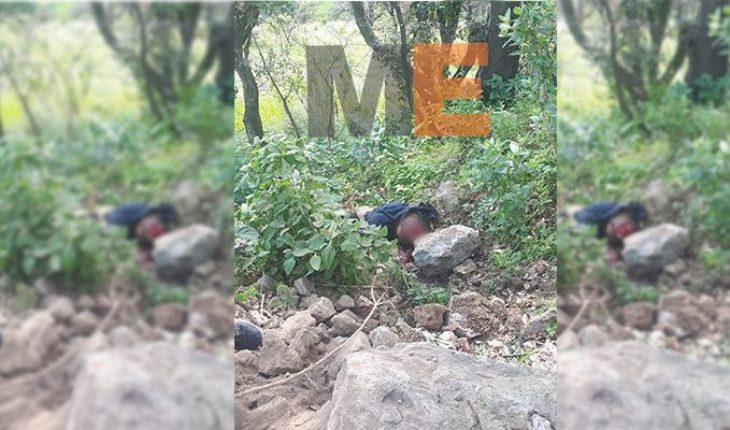 Stoned dead man is found on the road to Athecuaro