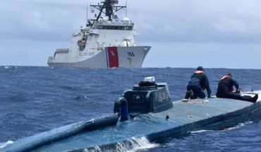 """They caught a """"narcosubmarino"""": it carried a ton of cocaine"""