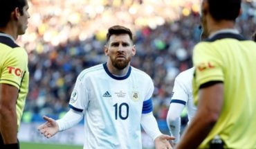 What sanction discusses applying Conmebol to Lionel Messi