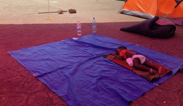 El campamento de migrantes africanos atrapados en Chiapas