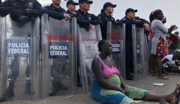 Migrantes africanos acusan abandono del INM en Chiapas