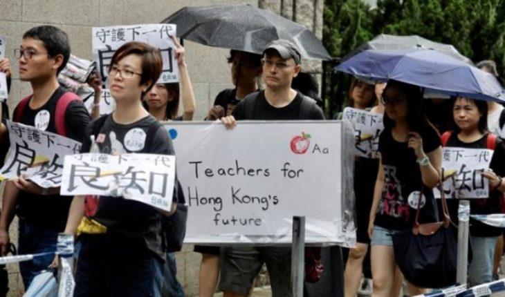 Profesores abren las protestas este fin de semana en Hong Kong