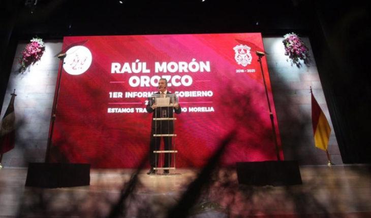 Rinde Raúl Morón, edil de Morelia su 1er. Informe de Gobierno