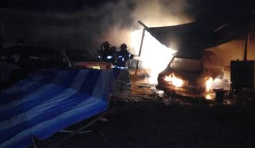 Se incendia taller mecánico, el dueño resulta herido en Zamora, Michoacán