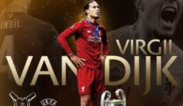 Van Dijk se impone a Messi y Cristiano Ronaldo como mejor jugador de la UEFA