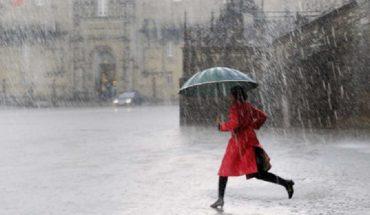 lluvias puntuales fuertes acompañadas de descargas eléctricas y posibles granizadas en zonas del noroeste, occidente y sureste de México