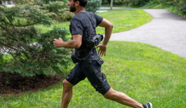 Create a robotic suit that helps their wearer walk and run