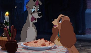 """Disney presented the tender and questioned poster of """"The Lady and the Tramp"""""""
