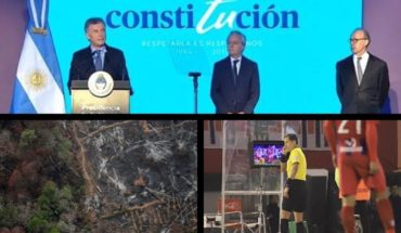 Macri on the anniversary of the Constitution, Cacerolazo by the Amazonas, Changes of Conmebol in the VAR, Agustina Cordova pregnant and more...