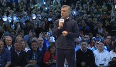 "Macri participated in a campaign closing event in Cordoba: ""Here was born the Sí can"""
