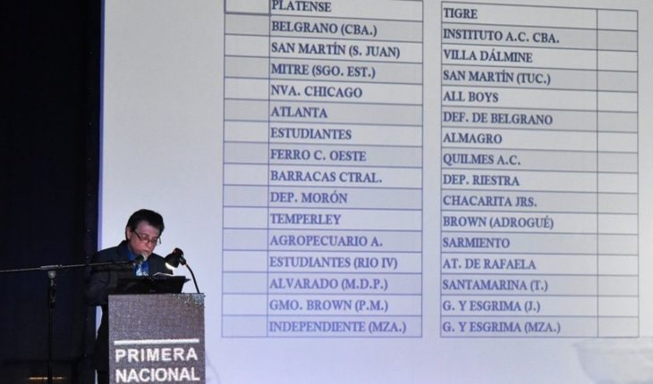 The first national and all the dates of the tournament were drawn