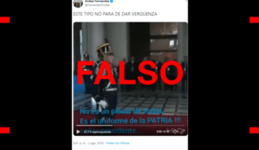 The subtitles of Macri's video and a barnper published by Aníbal Fernández are false