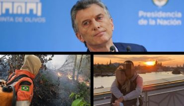 """""""We listen to the Argentinians,"""" Macri said, fire in the Amazon, romance between a Lioness and a former Boca and more."""