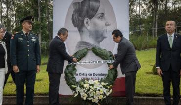 Conmemoran el CCLI Natalicio de Doña Josefa Ortíz de Domínguez