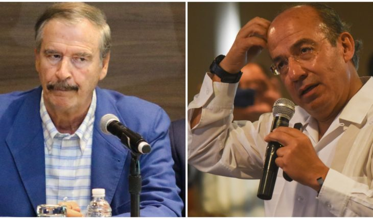 Los expresidentes Calderón y Fox critican 'los vivas' de AMLO