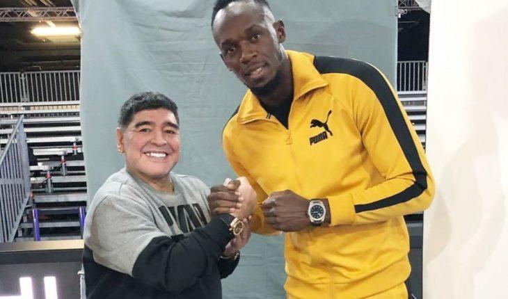"""Maradona pidió a Usain Bolt como refuerzo para Gimnasia: """"No me lo venden"""""""