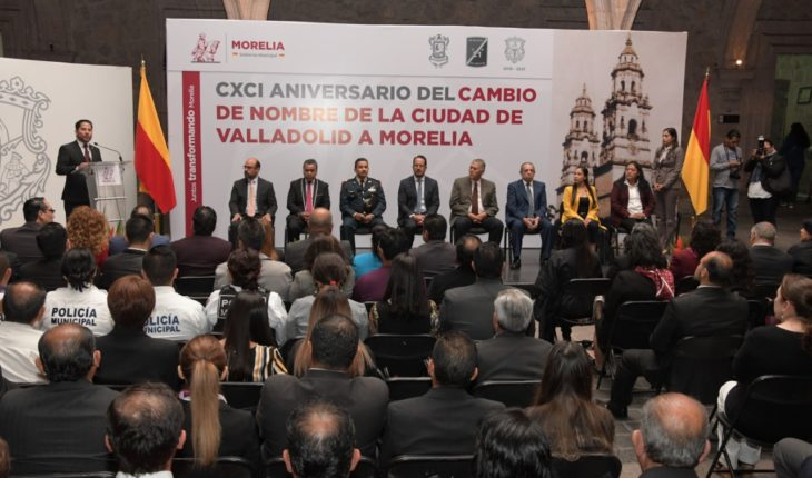 CXCI Anniversary of the name change of the city of Valladolid to Morelia