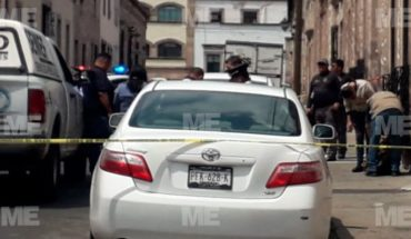 Elderly suffera with a heart attack and dies in the Historic Center of Morelia