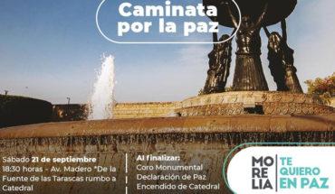 """Enlist """"Morelia Te Quiero En Paz"""" demonstration for tomorrow afternoon"""