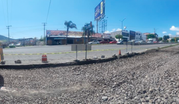 Morelia Government begins paving of a stretch of the north side of Av. Madero Oriente