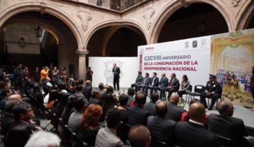 Morelia commemorates CXCVIII Anniversary of the Consummation of Independence