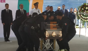Pay luctuose homage to police fallen in the shooting near Morelos Stadium in Morelia