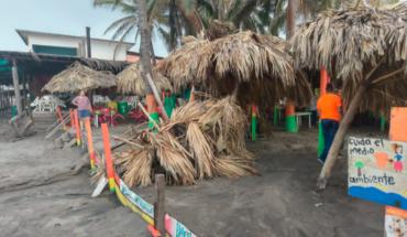 Tromba hits Eréndira Beach and causes damage