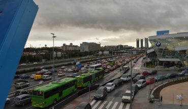 Tarde de tráfico en Madrid (España). Foto: Francisco Anzola (CC BY 2.0). Blog Elcano