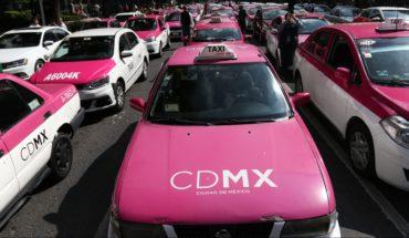 Lunes 21 de octubre nueva movilización de taxistas en CDMX