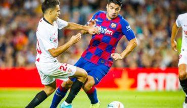 Suárez abrió el triunfo de Barcelona ante Sevilla con una chilena infernal