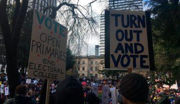 Trump vive de la polarización. Impeachment March en Portland, Oregon (EEUU) en 2017. Foto: MB298 (CC BY-SA 2.0)