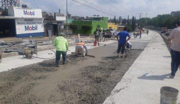 50% paving advance Vicente Santa María and Paseo de la República reports Morelia Town Hall