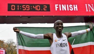 Kenyan Eliud Kipchoge finished marathon in less than 2 hours